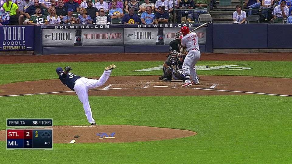Holliday's hit-by-pitch