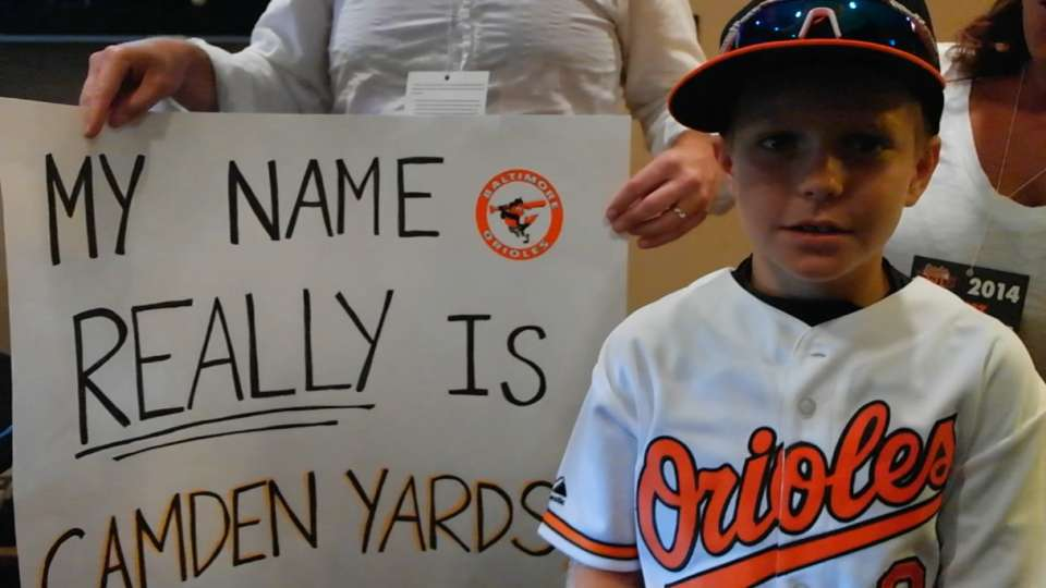 Boy named Camden Yards