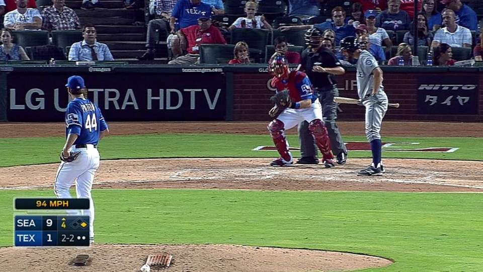 Patton's first career strikeout