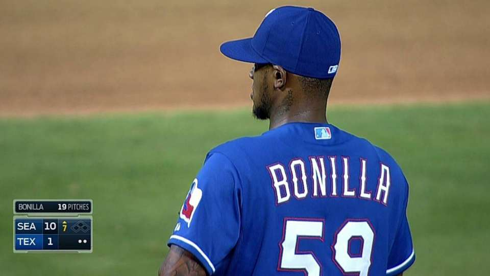 Bonilla's first career strikeout