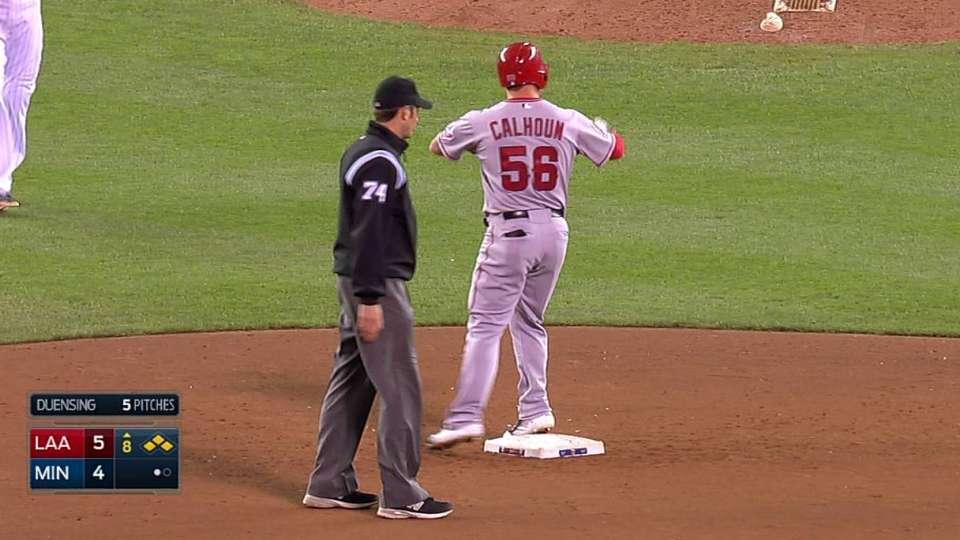 Calhoun's two-run double