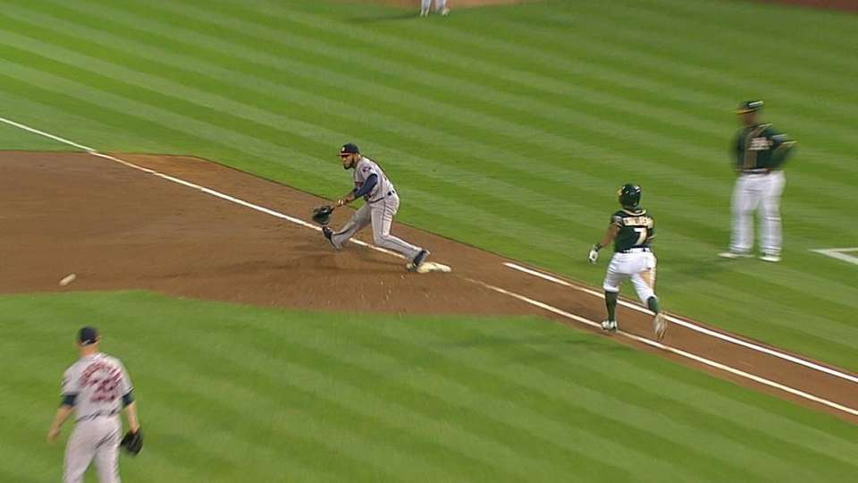 Dominguez, Singleton get the out
