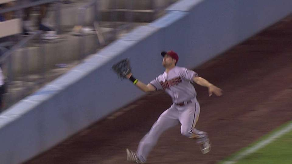 Inciarte's great foul grab