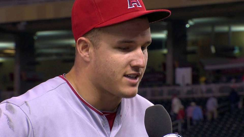 Trout discusses the win