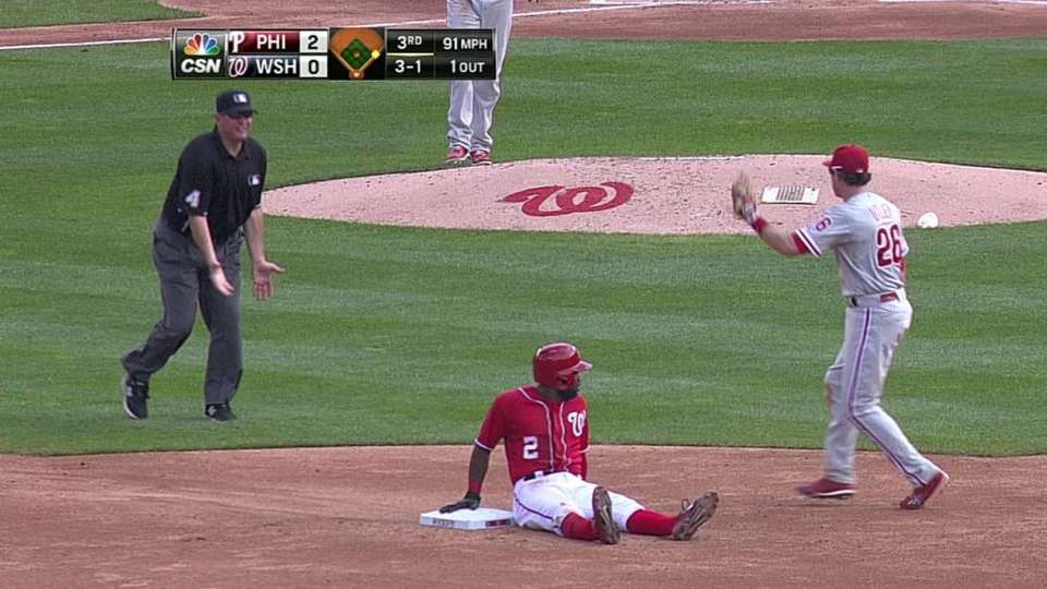 Nieves throws out Span