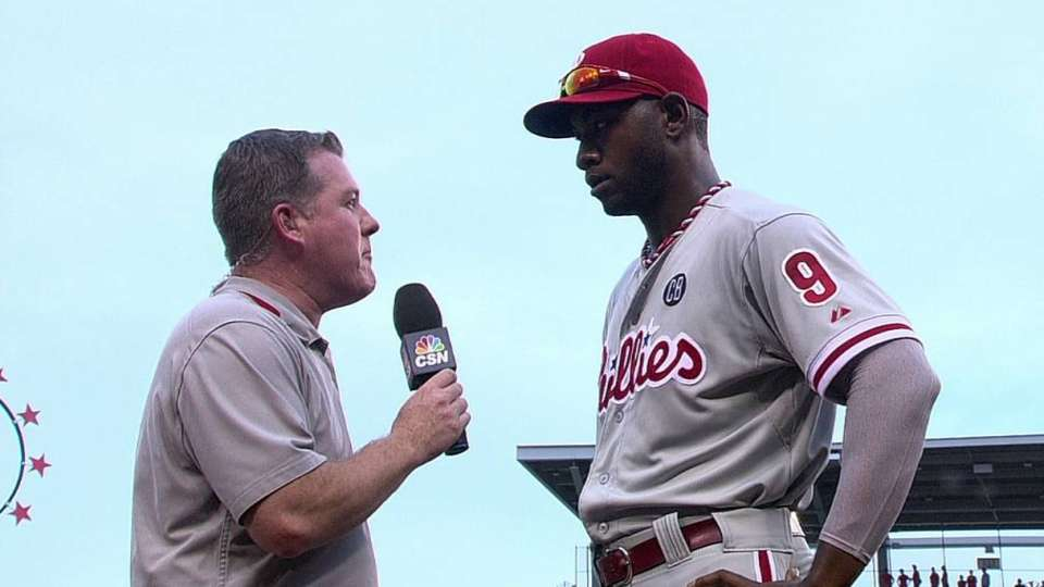 Brown on his homer in win