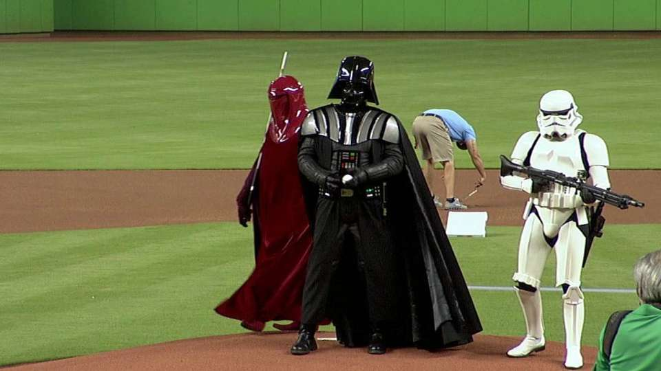 Darth Vader tosses first pitch