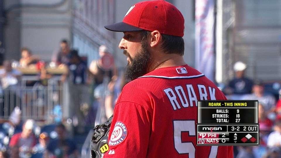 Roark's eight strikeouts