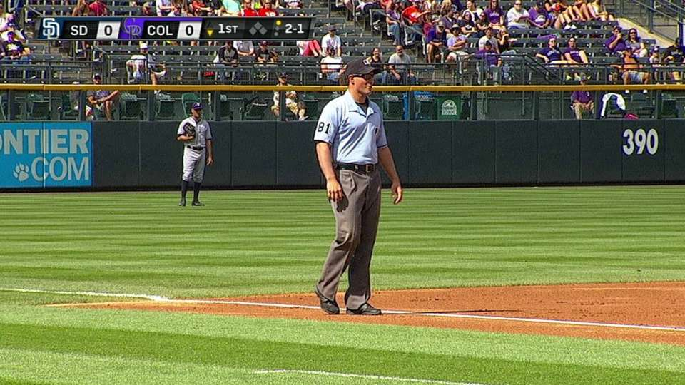 Umpire's nice snag
