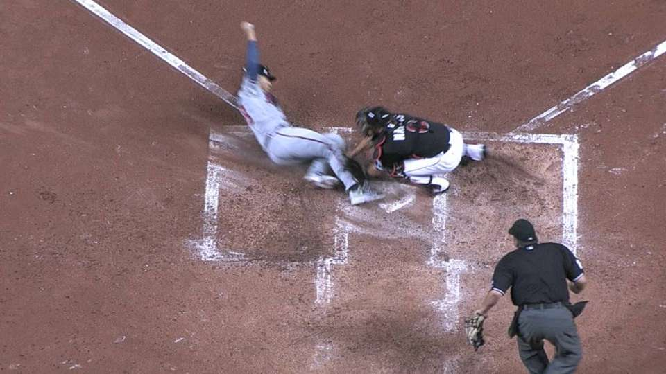 Call at plate stands in the 4th