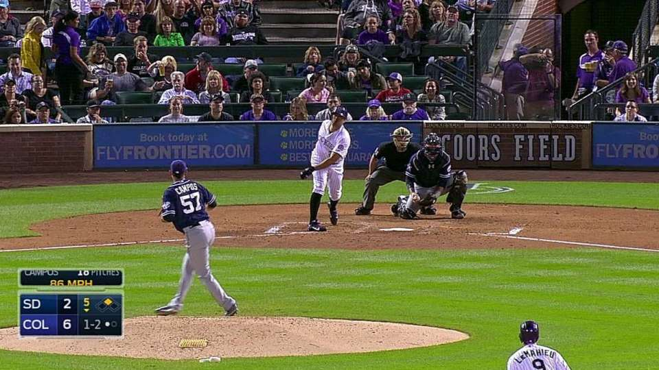Campos' first career strikeout