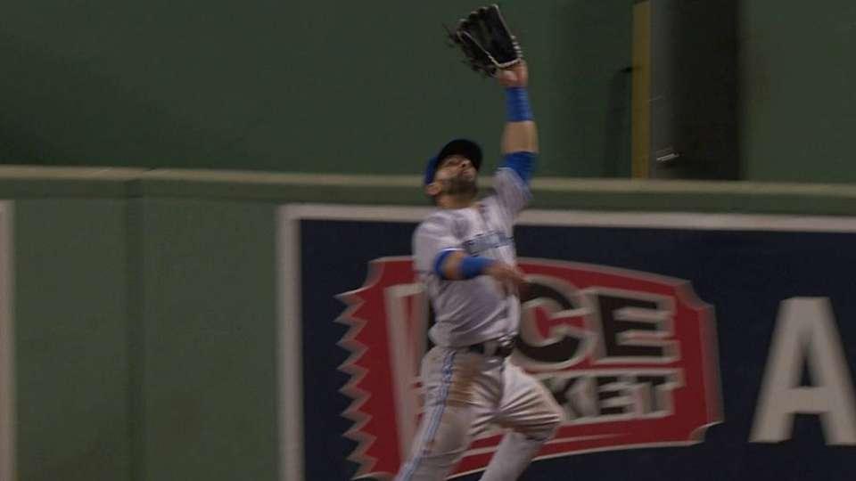 Bautista's running, leaping grab