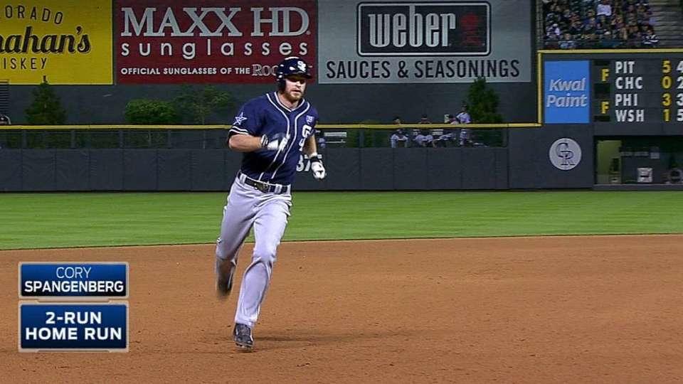 Spangenberg's pinch-hit home run
