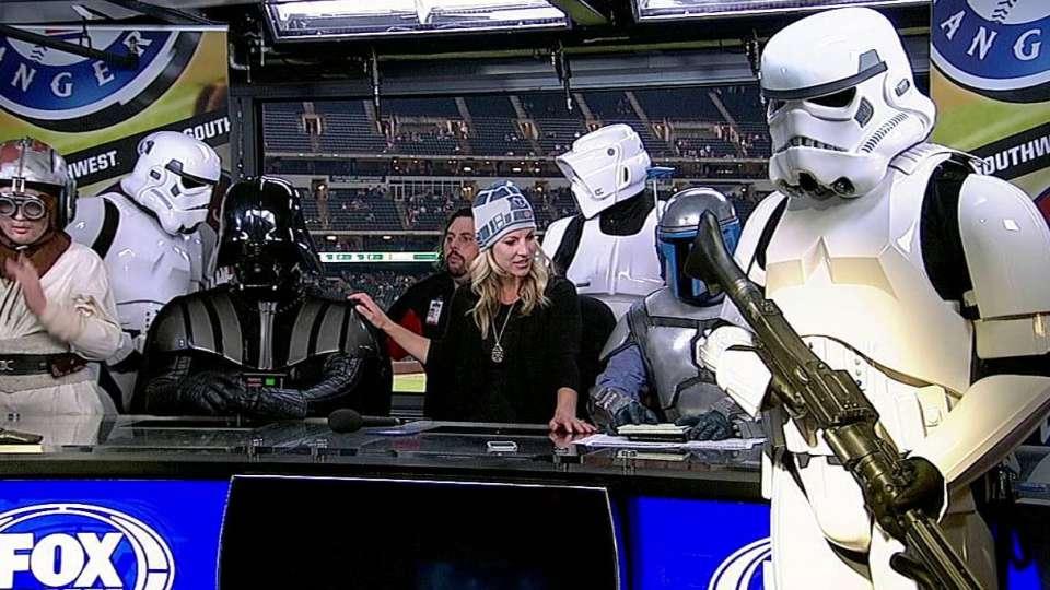 Star Wars invades postgame set