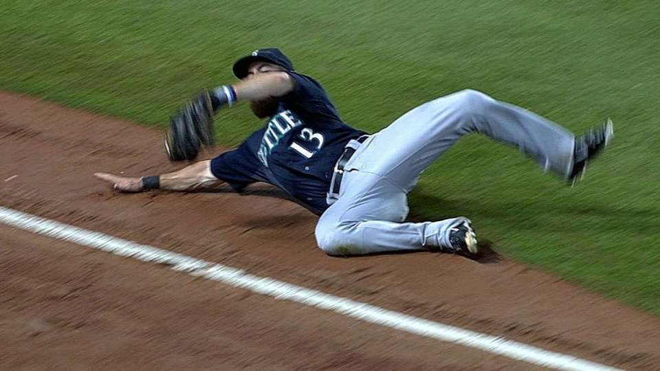 Ackley's great sliding catch