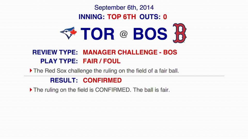 Fair ball call confirmed