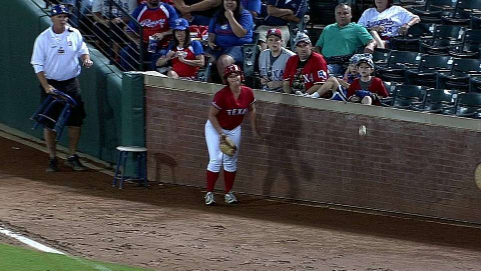 Ballgirl interferes with play
