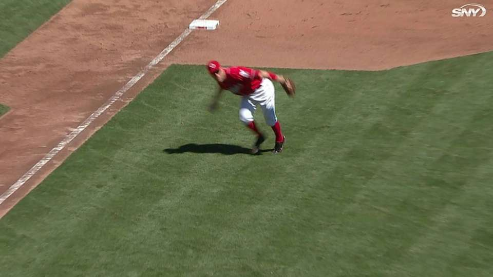 Frazier's strong throw