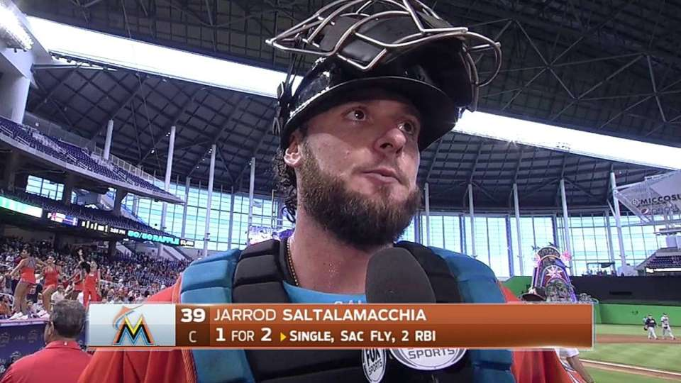 Saltalamacchia on 4-0 win