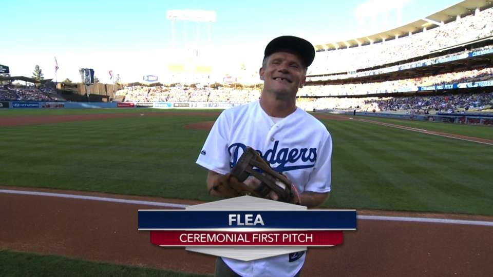 Flea's ceremonial first pitch
