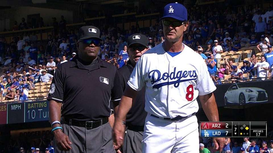 Benches warned, Kershaw ejected