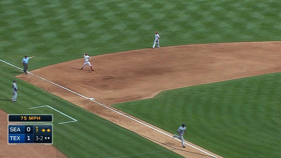 Rosales' nice play
