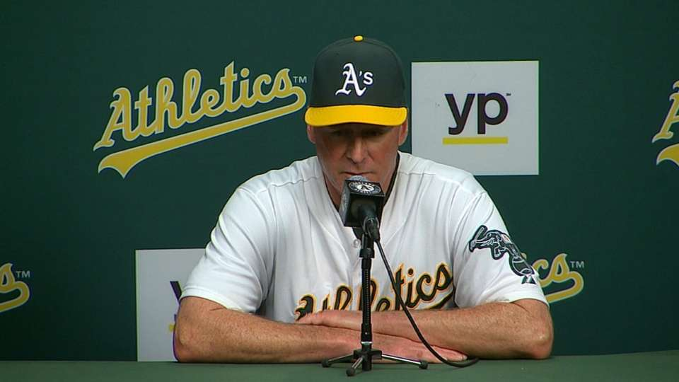 Melvin on A's coming up short