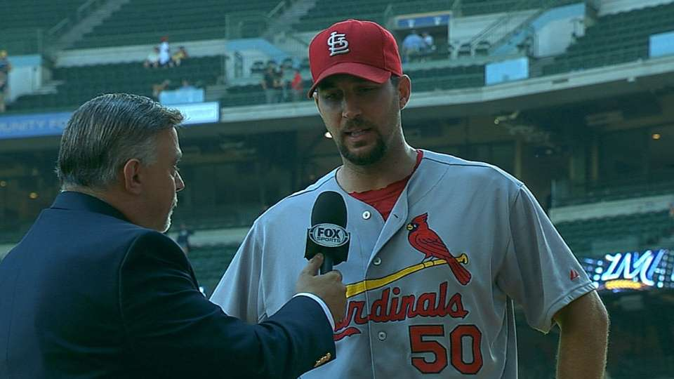 Wainwright reacts to Cards' win