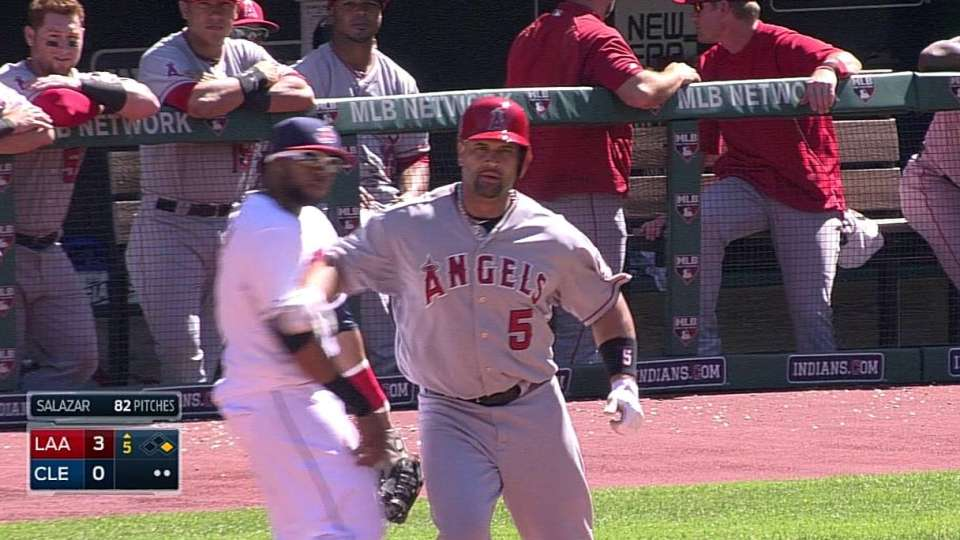 Pujols gives forearm shiver