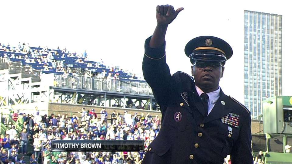 Cubs honor Sgt. Brown