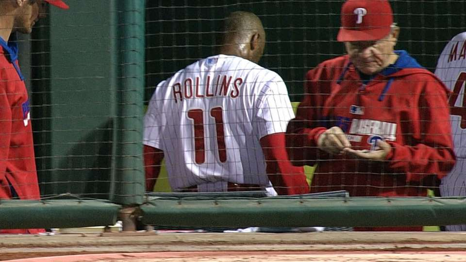 Rollins exits after triple