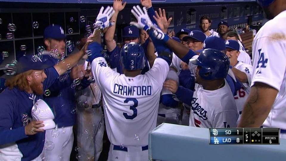Crawford's three-run homer