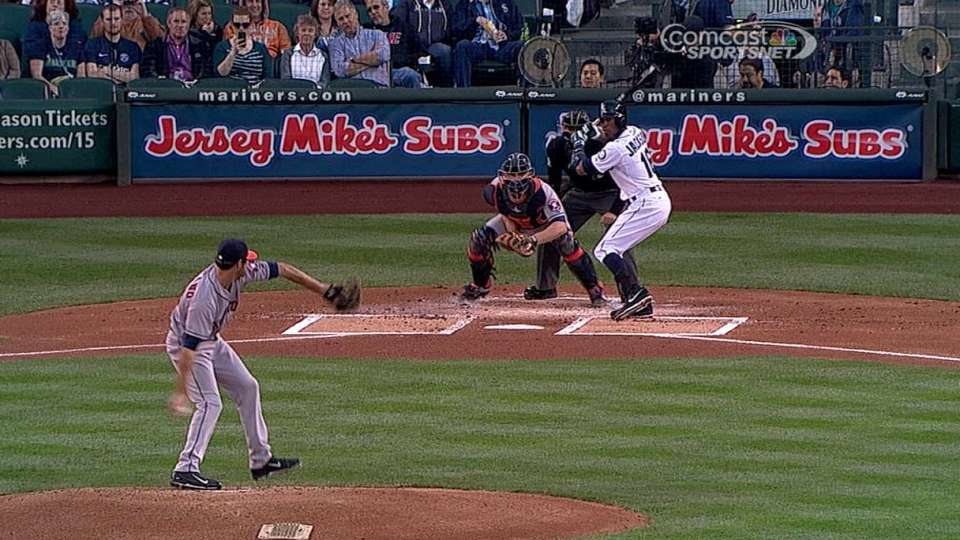 Tropeano's first MLB strikeout