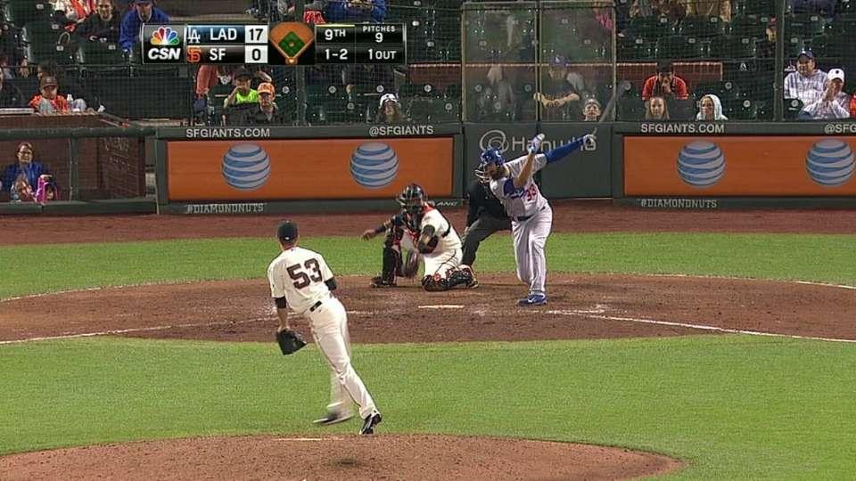 Heston's first MLB strikeout