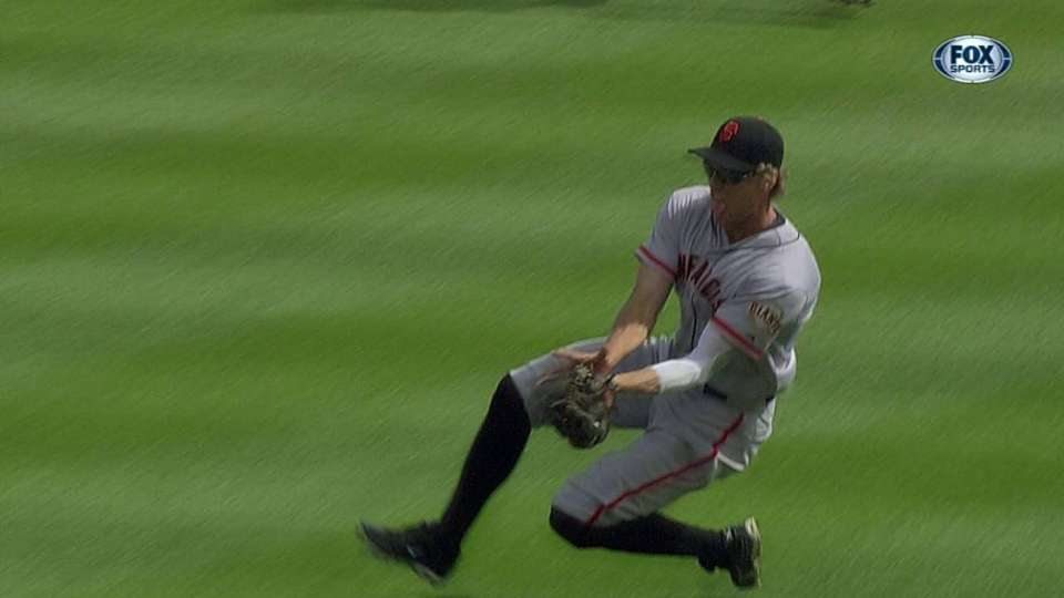 Pence robs Davis of a hit
