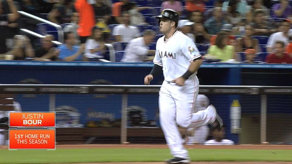 Bour's first career homer