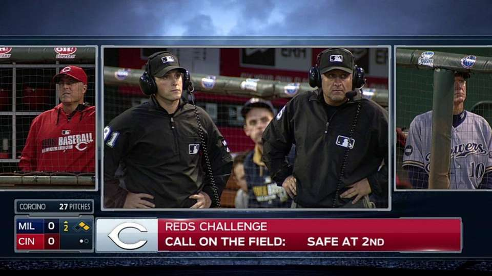 Reds win challenge on great play