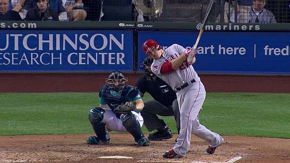 Trout's back-to-back shot