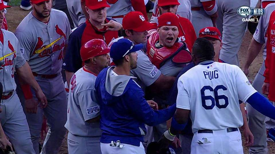 Benches empty after Puig HBP