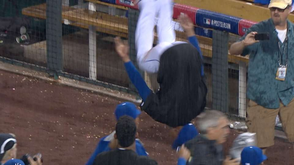 Dyson flips over ALDS sweep