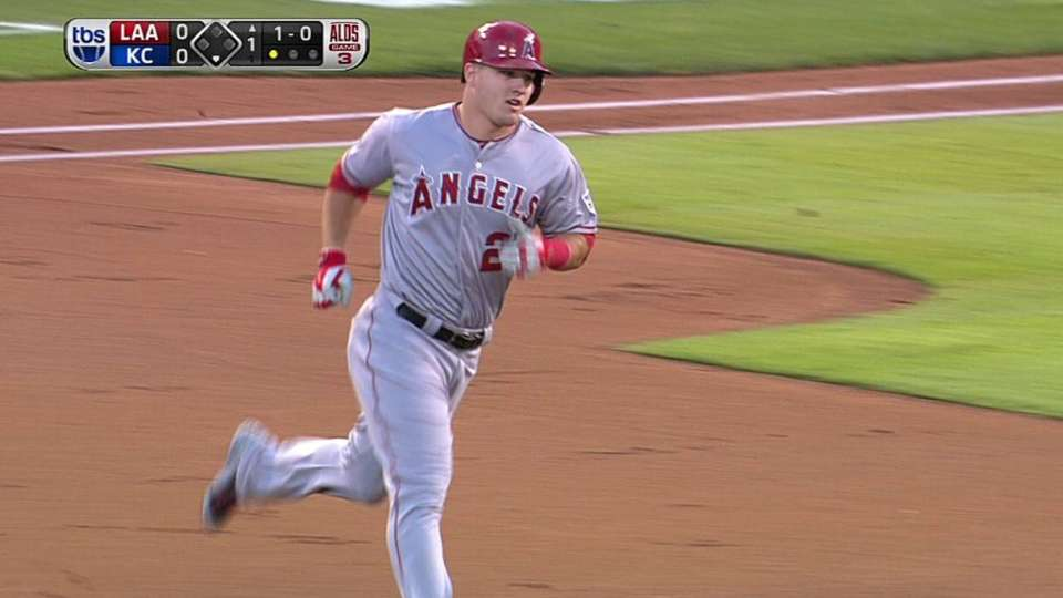 Trout's solo homer