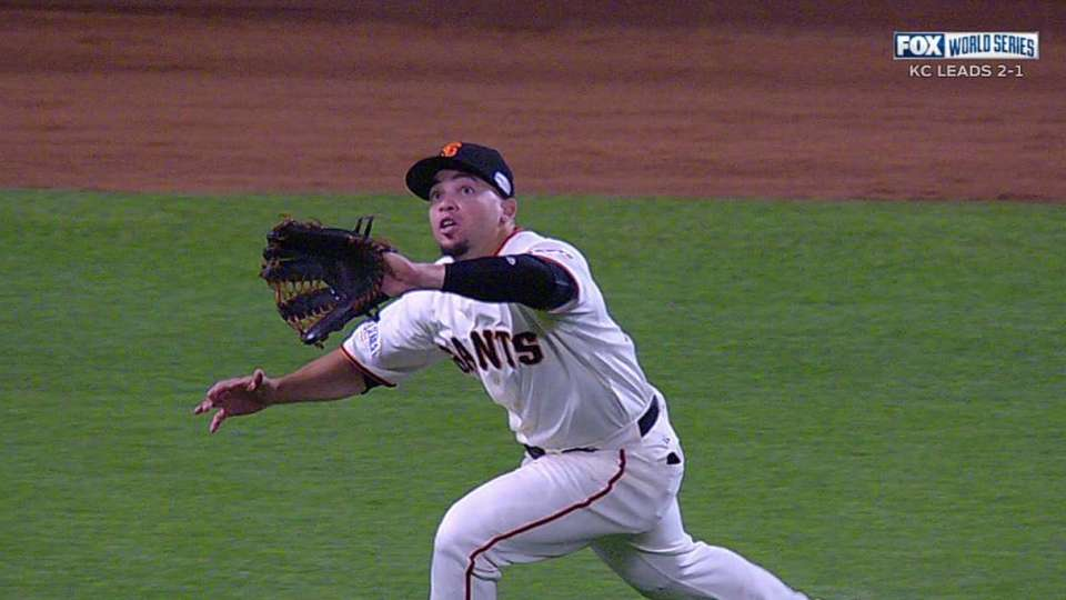 Perez's running catch