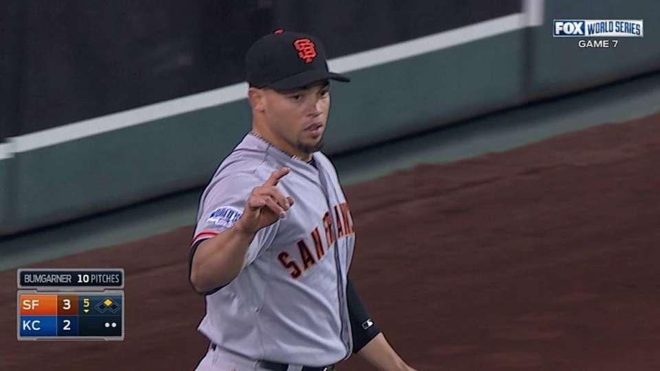 Perez's run-saving catch