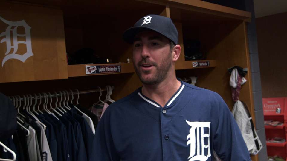Verlander mic'd up in clubhouse