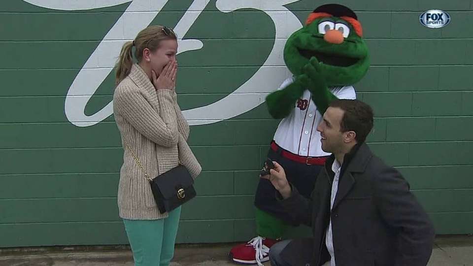 Fan proposes at Fenway