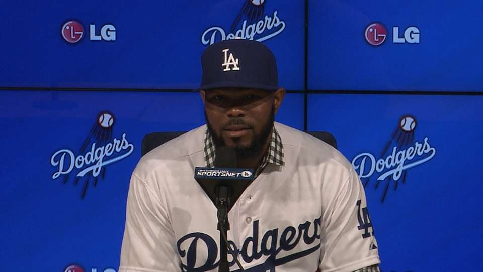 Kendrick happy to be a Dodger