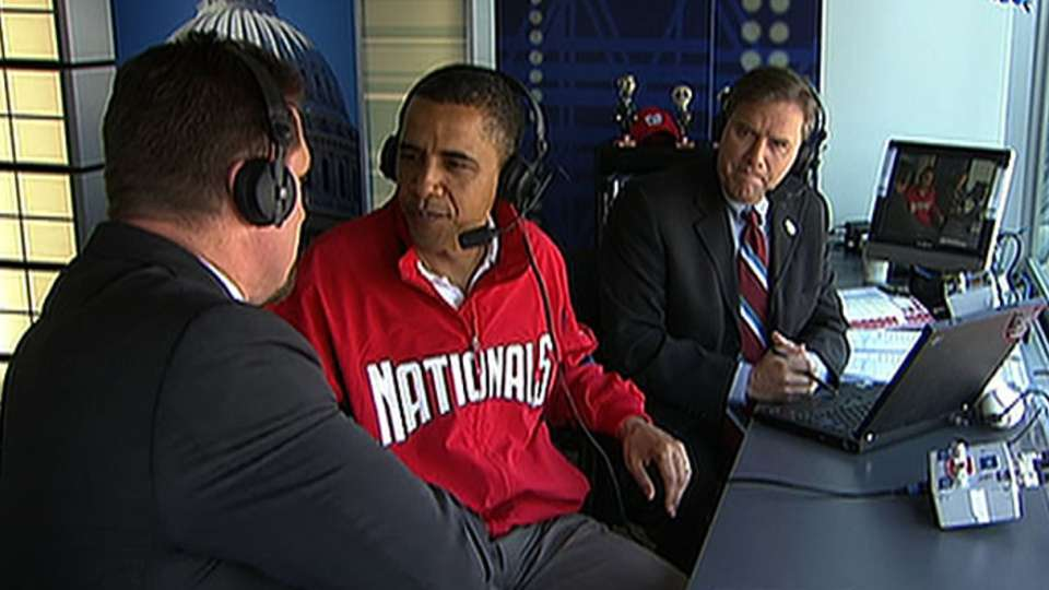 President Obama visits booth