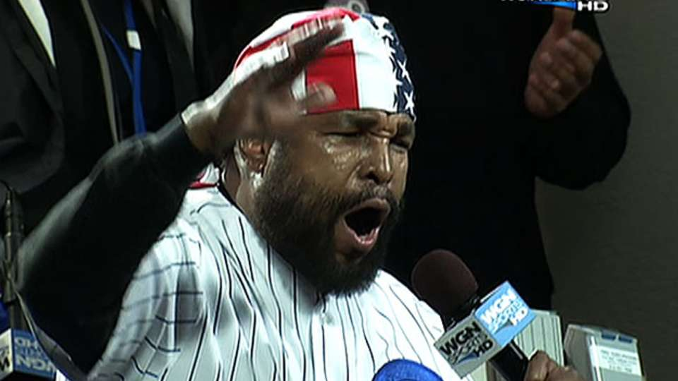 Mr. T sings during Cubs' stretch