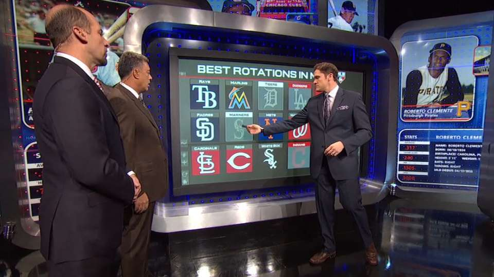 Top pitching rotations in MLB