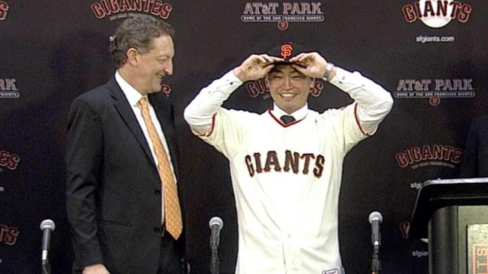 Aoki happy to join Giants